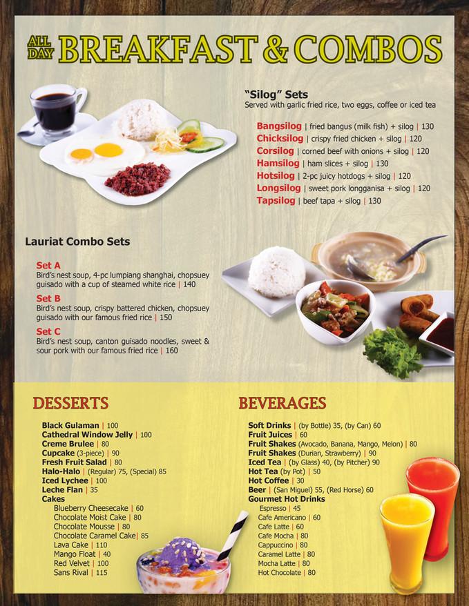 Menu Main - All-Day Breakfast & Combos