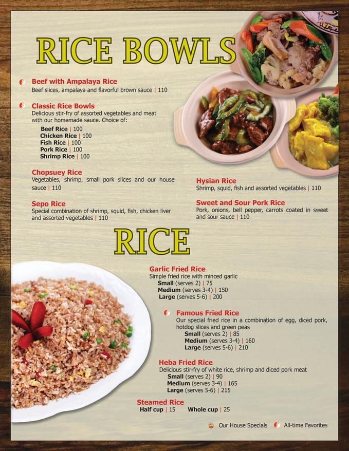 Menu Main - Rice Bowls