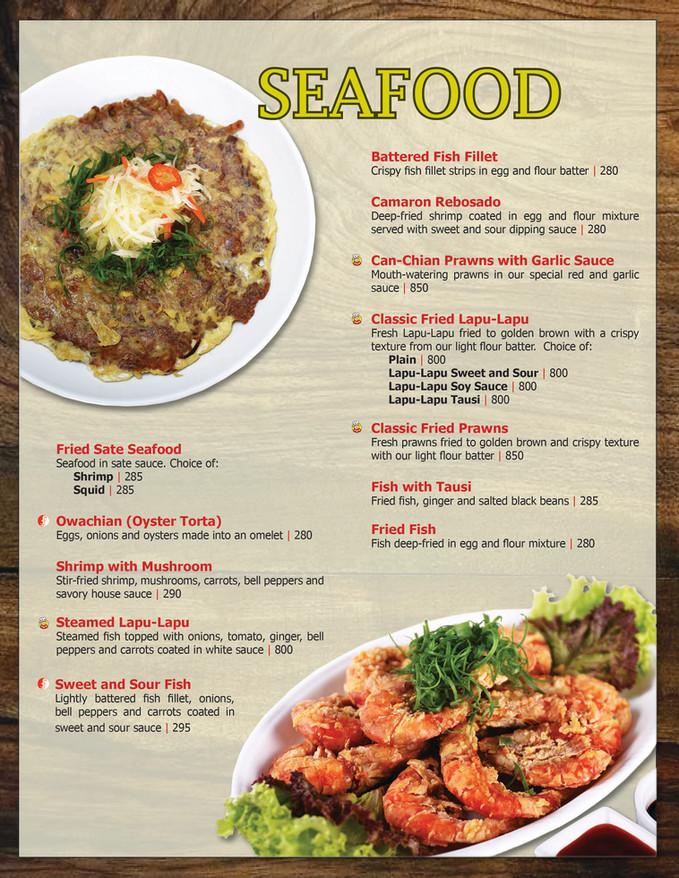 Menu Main - Main Course (Seafood)