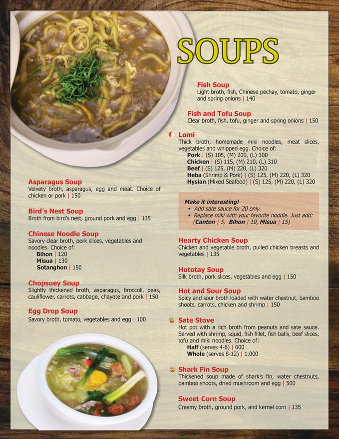 Menu Main - Soups