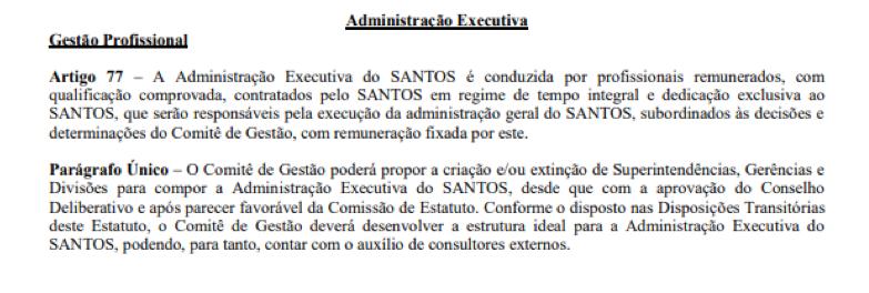 Ausência de organograma segue dando despesas ao Santos FC