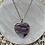 Thumbnail: Rainbow Fluorite Heart Necklace