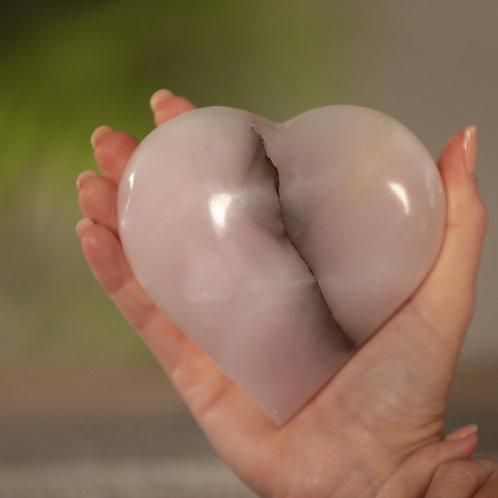 Pink Calcite Heart (Medium)