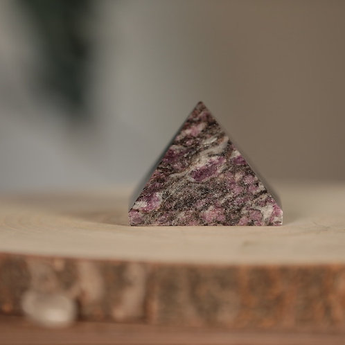 Pink Garnet Pyramid