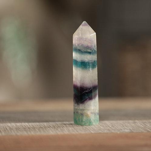Rainbow Fluorite Point