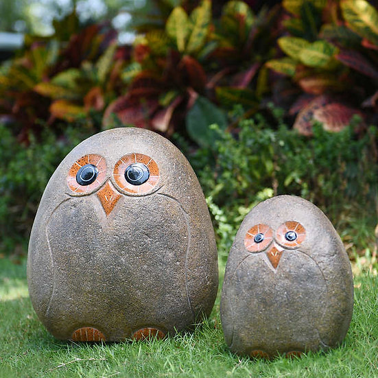 Owl Garden Statue, 2-pack