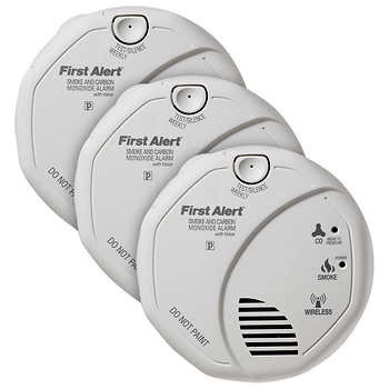 First Alert Smoke and Carbon Monoxide Alarm, 3-pack