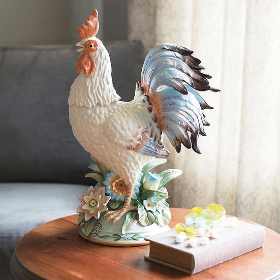 Fitz and Floyd Toulouse Rooster Centerpiece