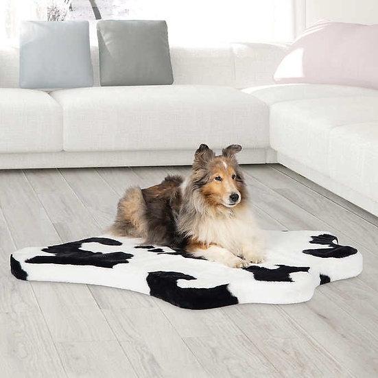 Brentwood Originals Faux Fur Pet Mat Black & White