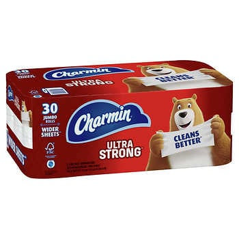 Charmin Ultra Strong Bath Tissue, 2-Ply, 231 Sheets, 30 Rolls