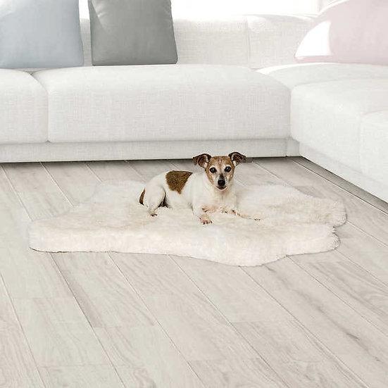 Brentwood Originals Faux Fur Pet Mat White