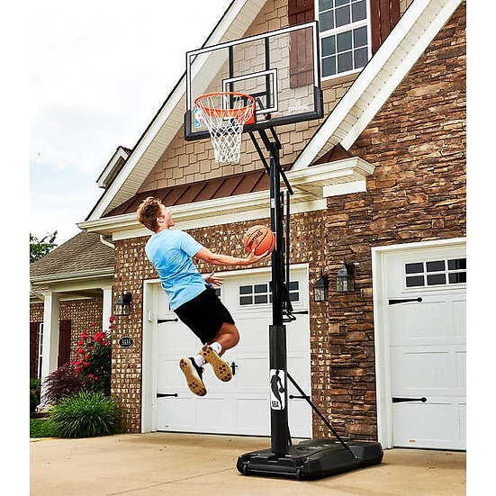 "Spalding Accuglide 54"" Acrylic Portable Basketball Hoop"