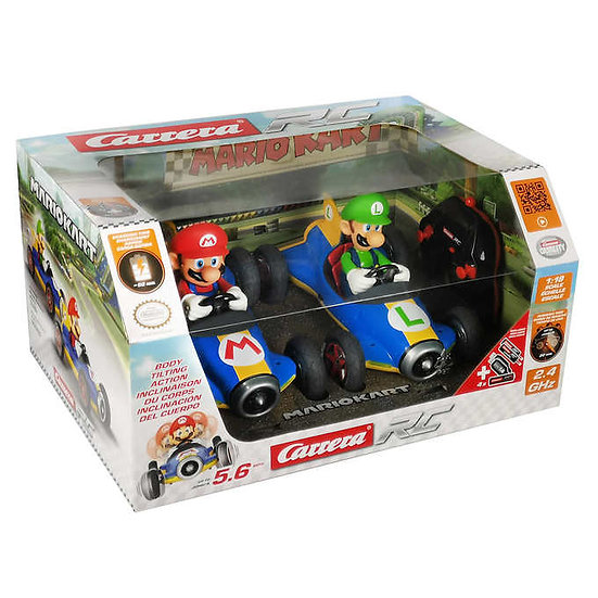 Mario Kart Mach 8 Mario and Luigi RC Cars, 2-pack