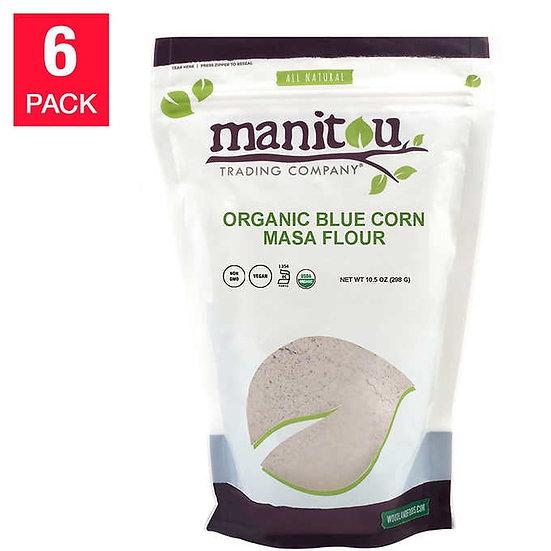 Manitou Organic Blue Corn Masa Flour 10.5 oz, 6-pack