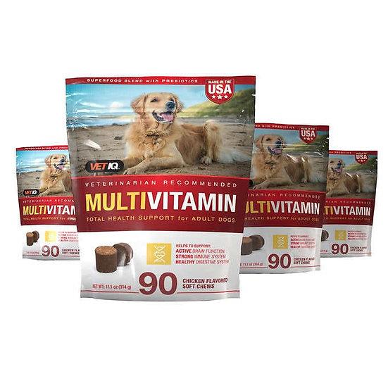 Vetiq Multivitamin Soft Chew Dog Supplement, 360-Count