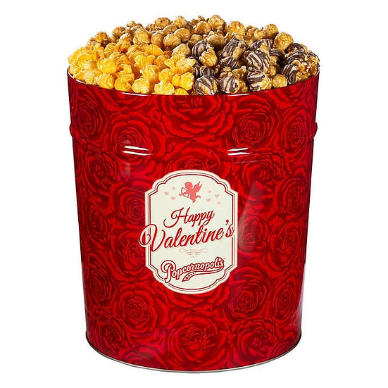 Popcornopolis 3.5 Gallon 3-Way Popcorn Tin