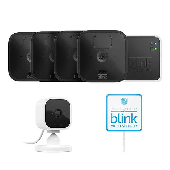 Blink 5 Camera Security System - 4 Outdoor & 1 Mini Indoor Camera