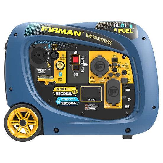 Firman 2900W Running / 3200W Peak Electric Start Dual Fuel Powered Generator