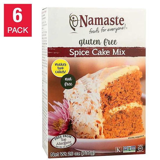Namaste Foods Gluten Free Spice Cake Mix 26 oz 6-pack