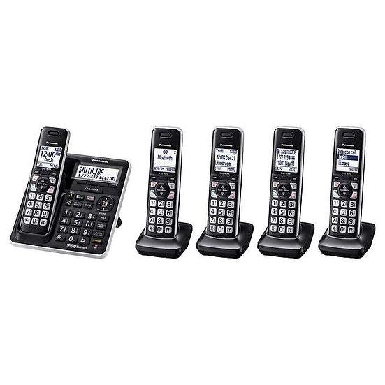 Panasonic KX-TG985 DECT 6.0 Bluetooth 5-handset Phone Bundle