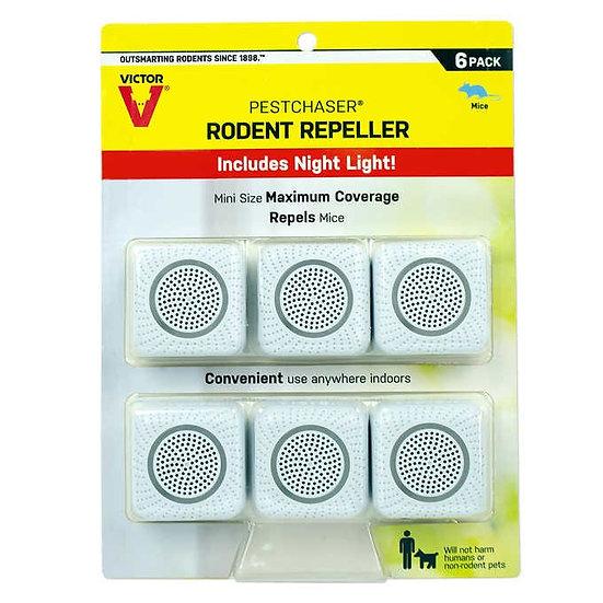 6 Pack Pestchaser Victor Rodent Repeller with Nightlight
