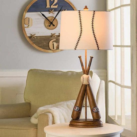 Baseball Motif Figurine Table Lamp
