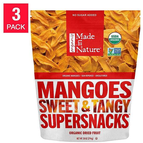 Made in Nature USDA Organic Dried Mangos 28 oz 3-pack