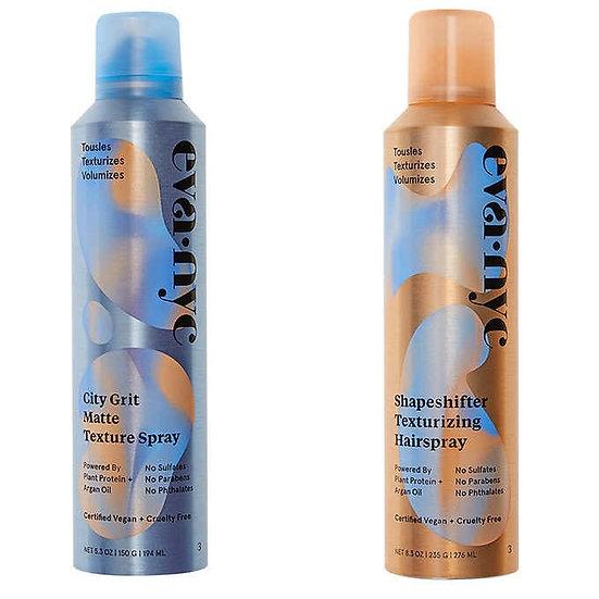 eva·nyc City Grit Matte Texture Spray and Shapeshifter Texturizing Hairspray Set