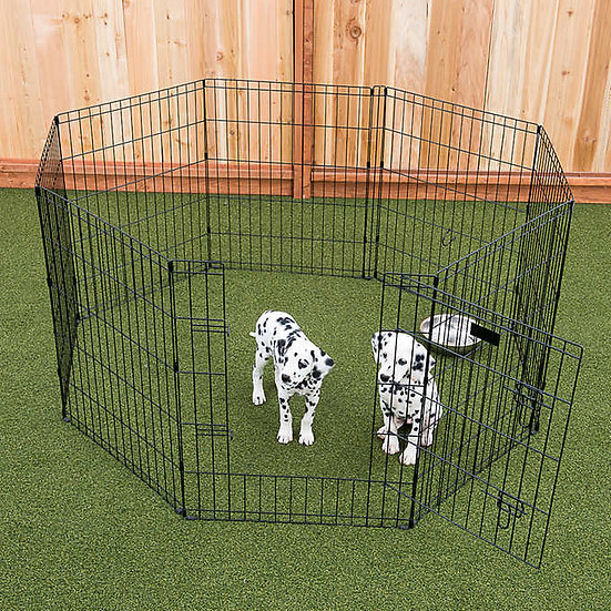"""Lucky Dog 36"""" Dog Exercise Pen with Stakes"""