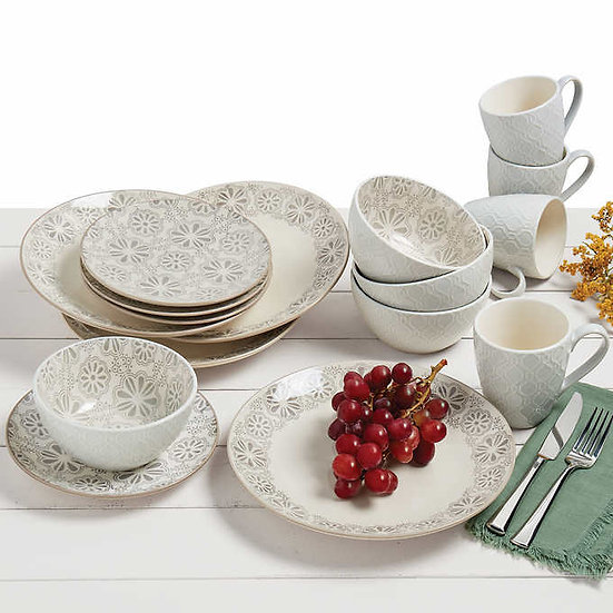 Tabletops Gallery 16-Piece Grayson Dinnerware Set