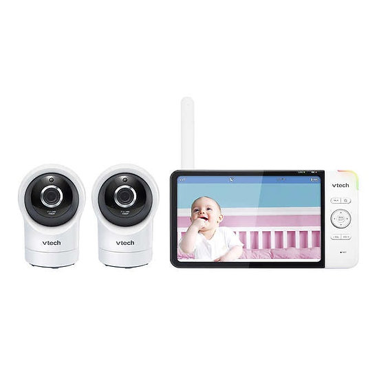 VTech Smart Wi-Fi 1080p Pan and Tilt Baby Monitor, 2-pack