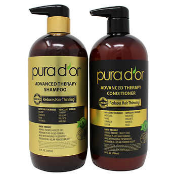 PURA D'OR Advanced Therapy System Shampoo & Conditioner Bundle