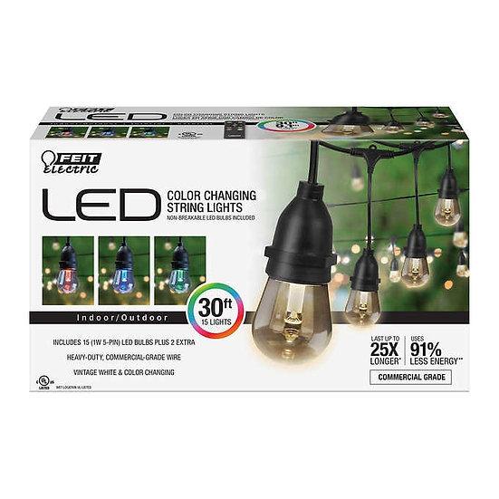 FEIT 30' LED Color Changing String Lights