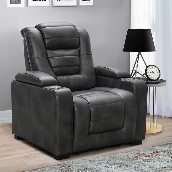 Jayce Leather Power Theater Recliner with Power Headrest