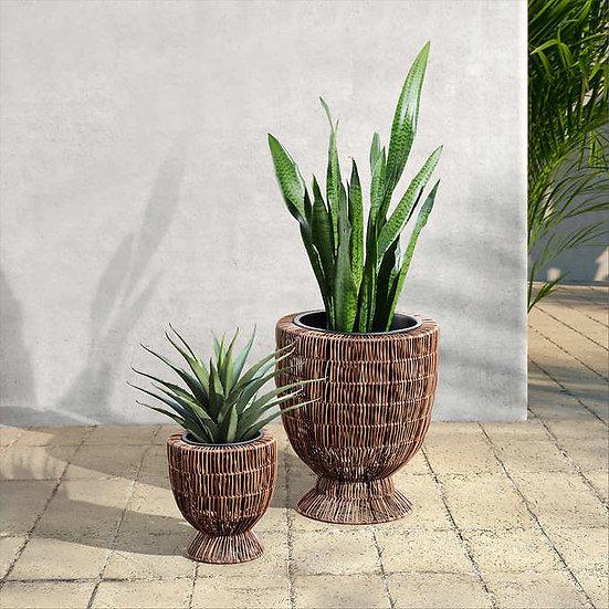 Urn Rattan Planter, 2-pack