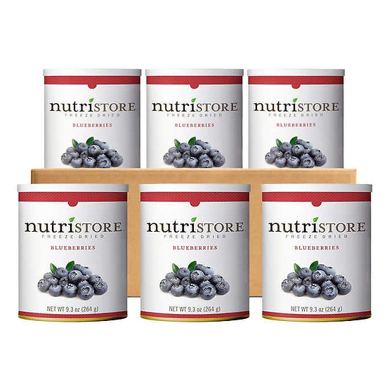 Nutristore Freeze Dried Blueberries 6-count