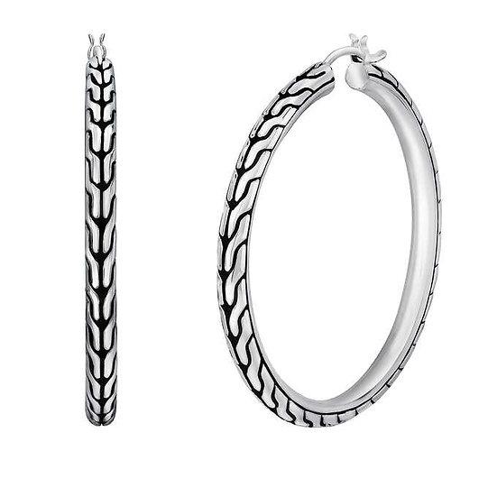 John Hardy Sterling Silver Hoop Earrings