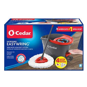 O-Cedar EasyWring Spin Mop & Bucket System with 3 Refills