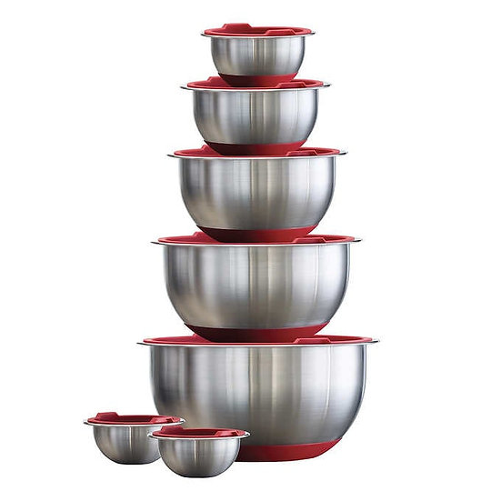 Tramontina 14-piece Stainless Steel Mixing Bowl Set with Lids