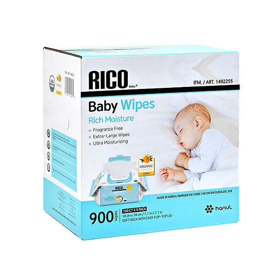RICO Baby Wipes, 900-count