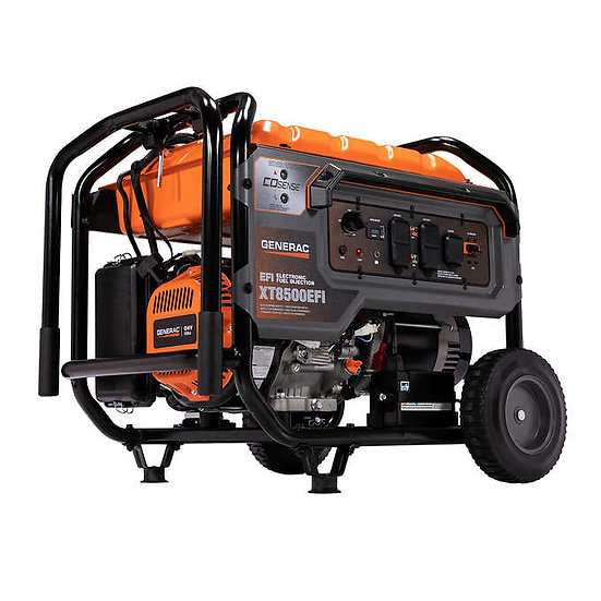 Generac 8,500W Running / 10,000W Peak EFI Generator w/Electric Start, XT8500EFI