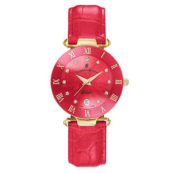 Jacques Du Manoir Pink Sunray Dial Ladies Watch