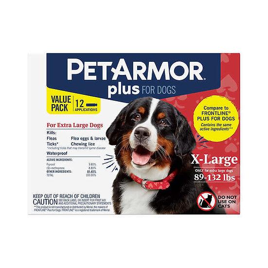 PetArmor Plus Flea, Tick and Lice Formula for Dogs 89-132 lbs.