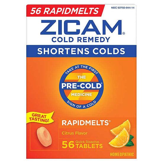 Zicam Cold Remedy Citrus Flavor, 56 Quick Dissolve Tablets