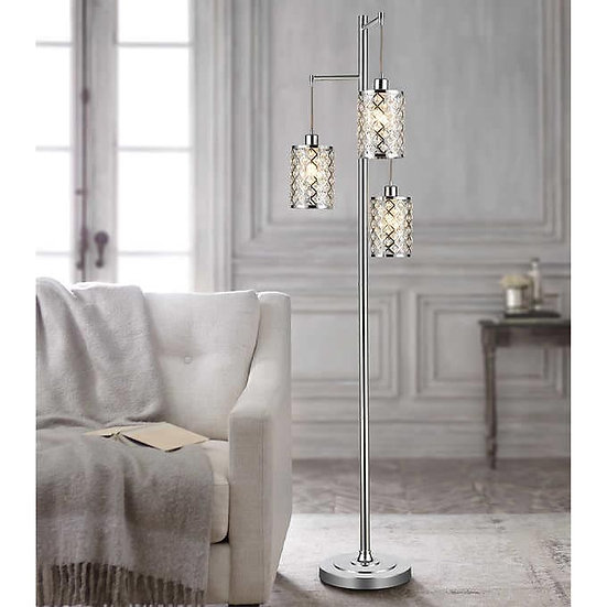 Gisele Crystal Tripod Floor Lamp