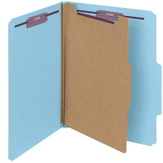 Smead Classification Folders 4-section Blue 2/5 Cut Letter, 10-count