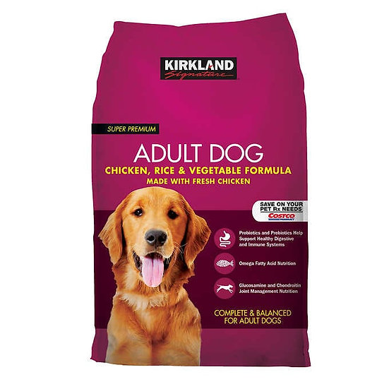 Kirkland Signature Adult Formula Chicken, Rice and Vegetable Dog Food 40 lb.