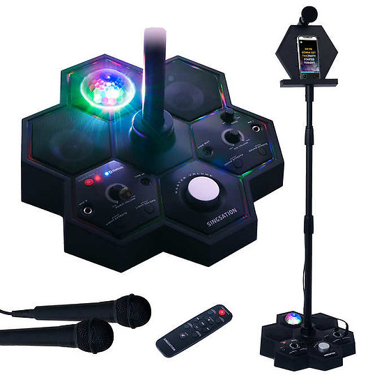 Singsation Performer Deluxe All-in-One Karaoke Party System with Two Mics