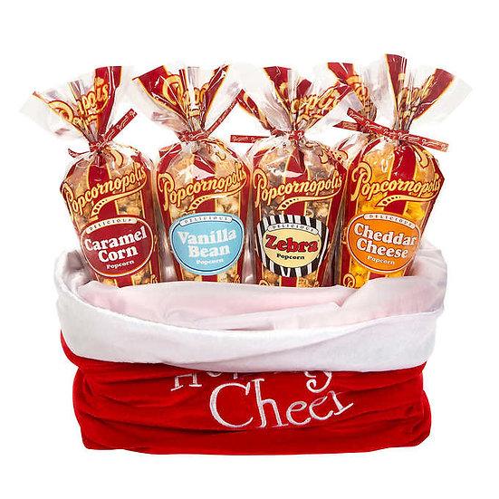 Popcornopolis 12-Large Cone Holiday Cheer Bag, Christmas