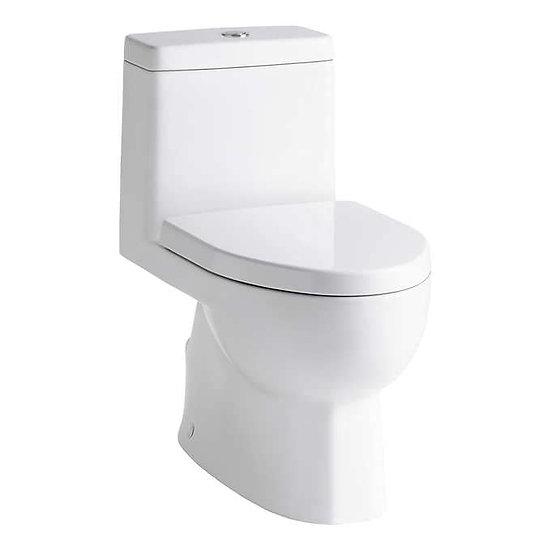 Kohler Reach One-Piece Compact Elongated Dual-Flush Toilet